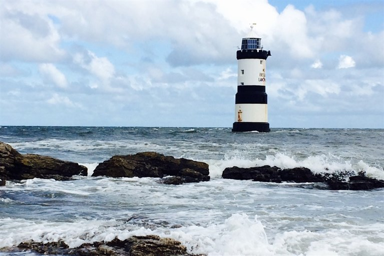 Penmon lighthouse just off Puffin Island
