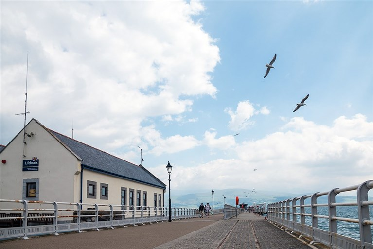 Beaumaris pier, where all our boat trips and cruises begin!