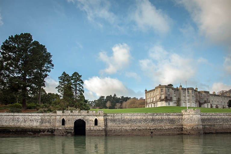 Plas Newydd, a National Trust property,  viewed from the Menai Strait