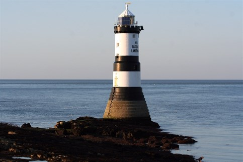 Penmon lighthouse on a beautiful clear day